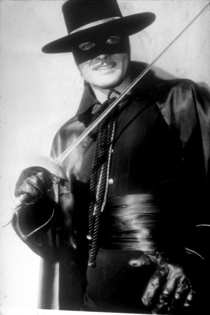 Zorro szerepében Guy Williams