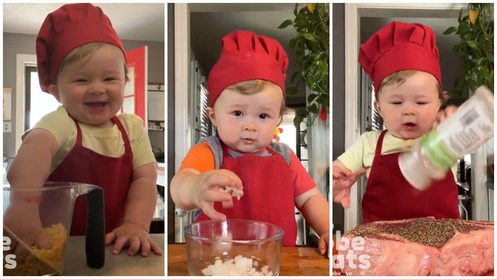 1 éves kisfiú gyerek szakács séf