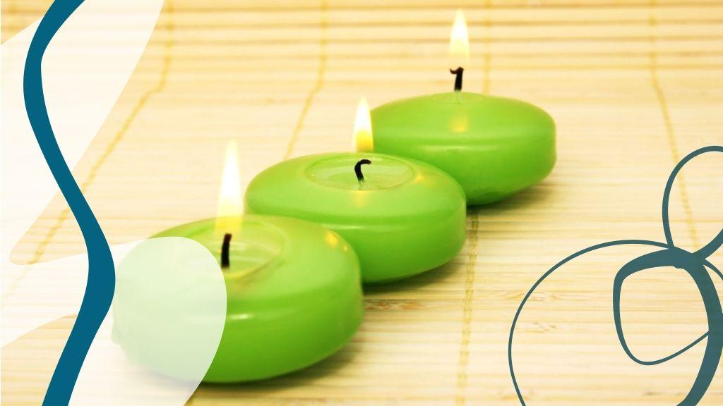 Újholdkor halványzöld gyertya támogatja a kívánságokat