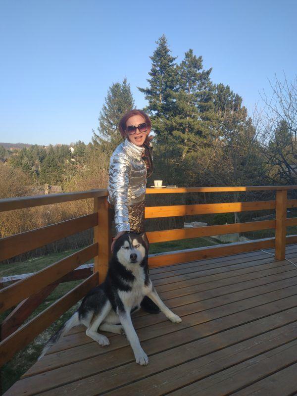 Détár Enikő és kutyája, Wrex (Fotó: Détár Enikő)