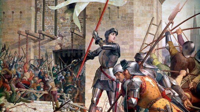 Jules Eugene Lenepveu festménye Jeanne d'Arc-ról az Orleans-i csatában.