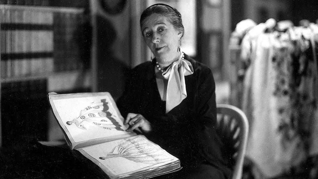 Jeanne Lanvin divattervező 1930-ban.