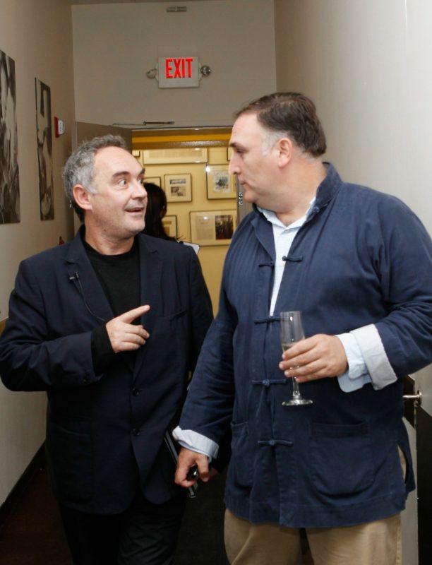 Ferran Adria és José Andrés 2010-ben, egy New York-i rendezvényen (Fotó: Mark Von Holden/Getty Images for The International Culinary Center/AFP)