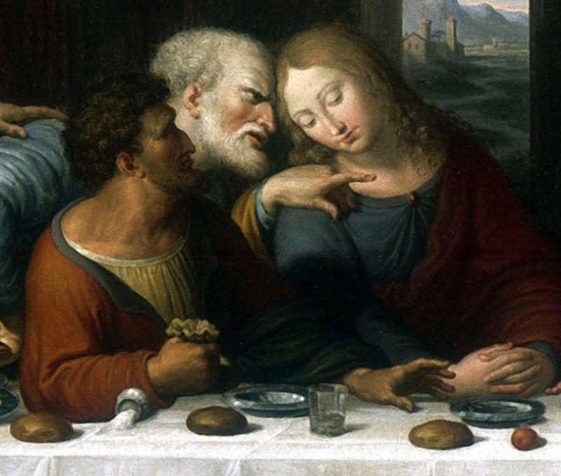 Részlet Leonardo da Vinci Az utolsó vacsora című festményéről