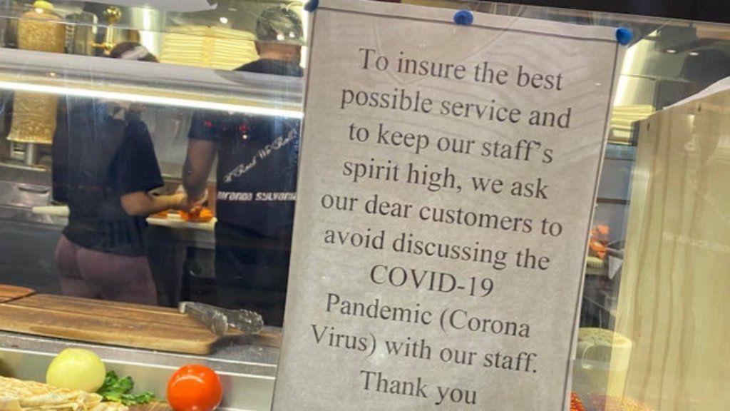 gyorsétterem koronavírus beszélgetés tilos