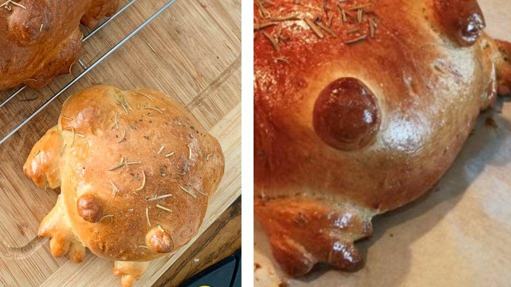 Sokan béka alakú kenyereket stnek a karanténban.