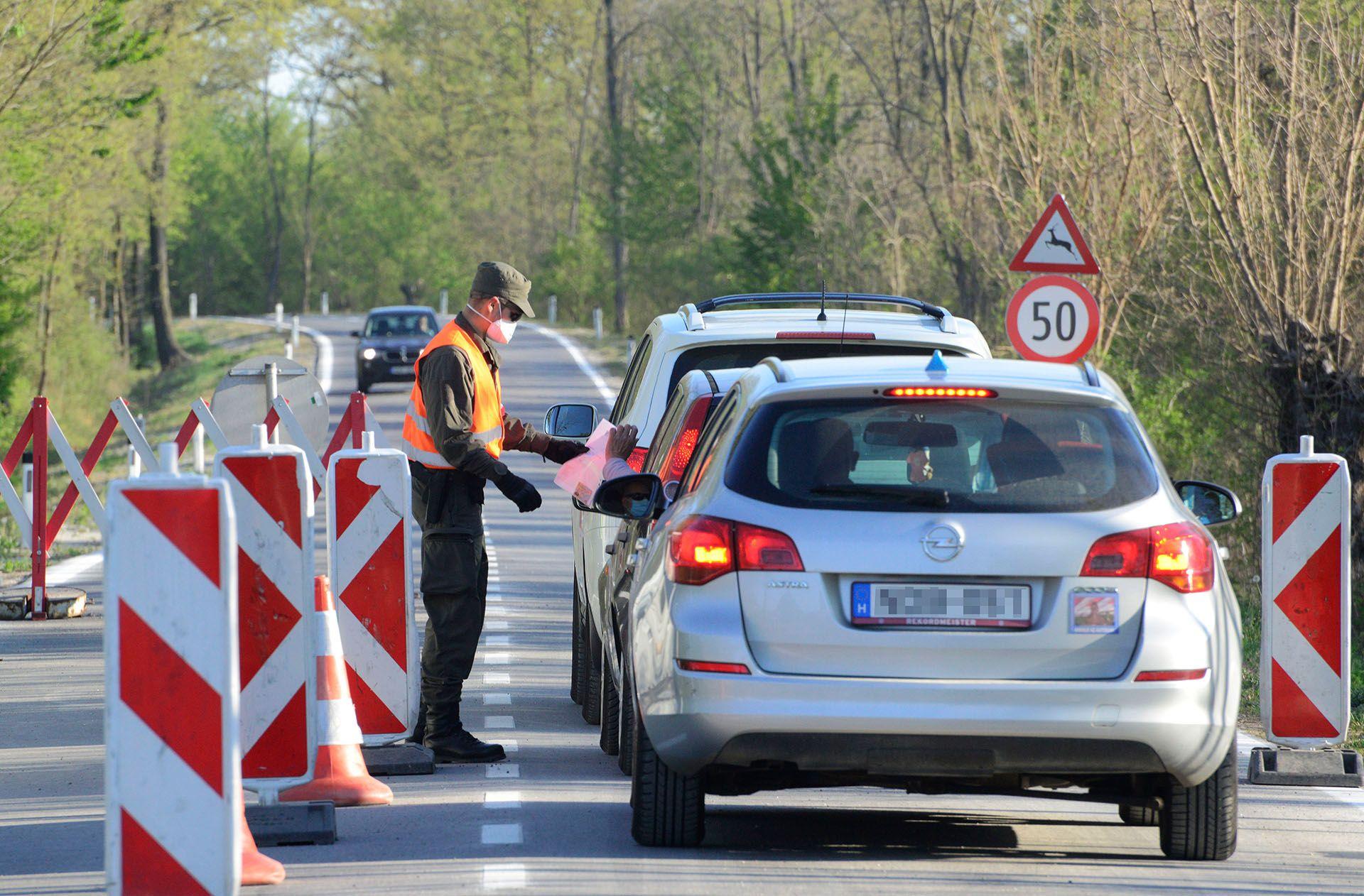 Ellenőrzés az osztrák-magyar határon
