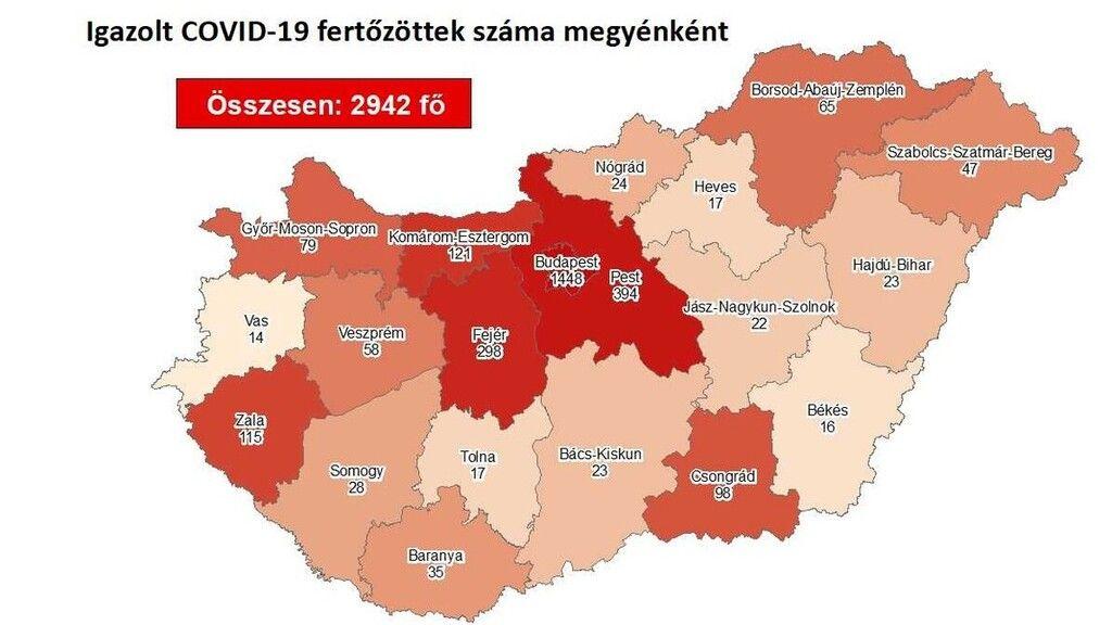 A 2020.05.02-i koronavírus-fertőzötti térkép
