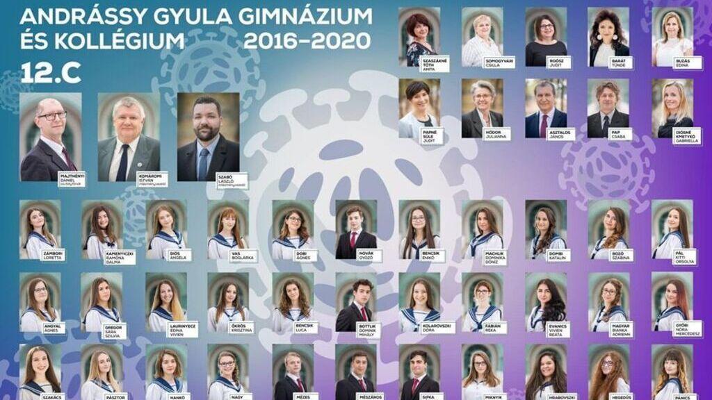 A békéscsabai gimnazisták koronavírus tablója, Győrfi Pál idézetével