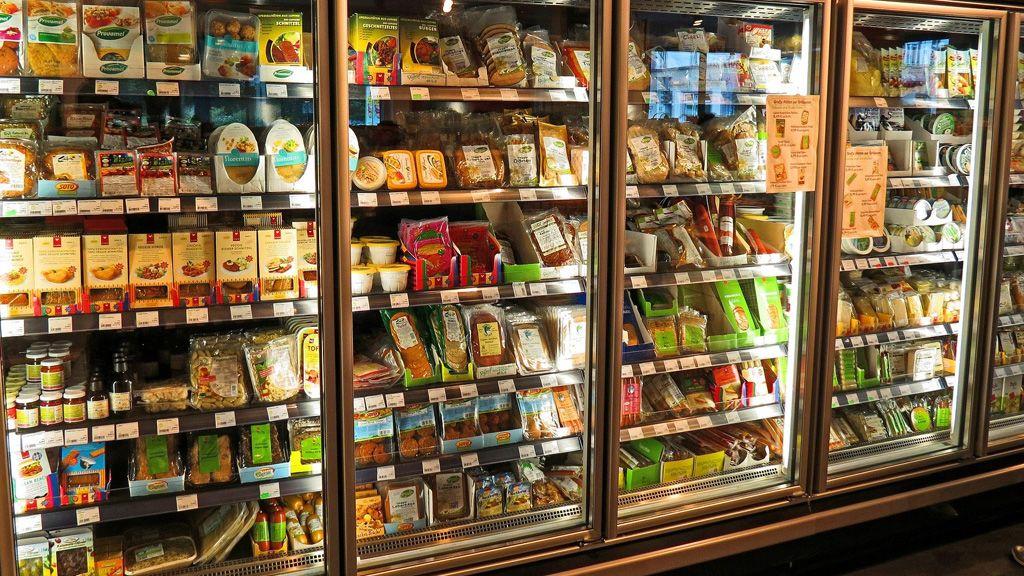 Hűtőszekrények egy üzletben