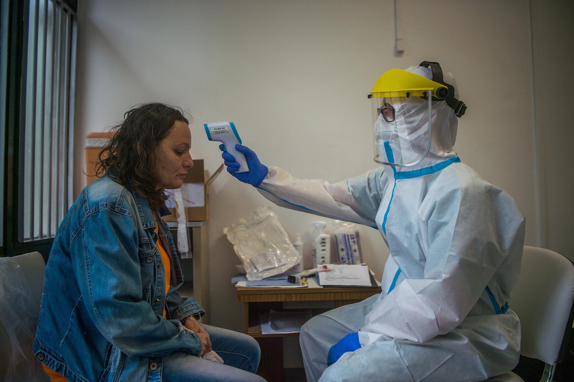 Koronavírus-teszt az Országos Korányi Pulmonológiai Intézetben