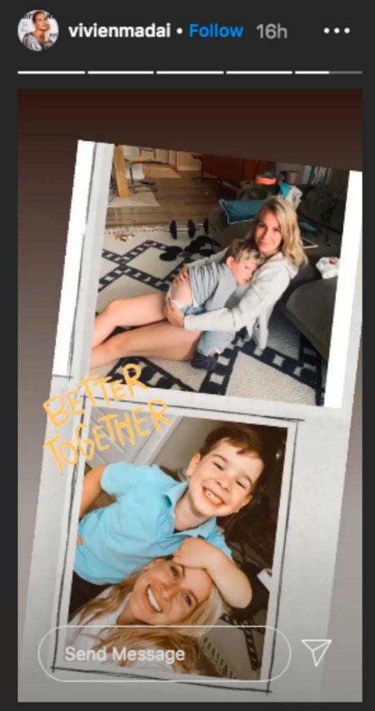 Mádai Vivien a kisfiával, Zénóval