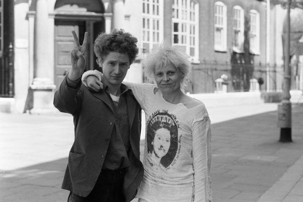 Malcolm McLaren és Vivienne Westwood a hetvenes években.