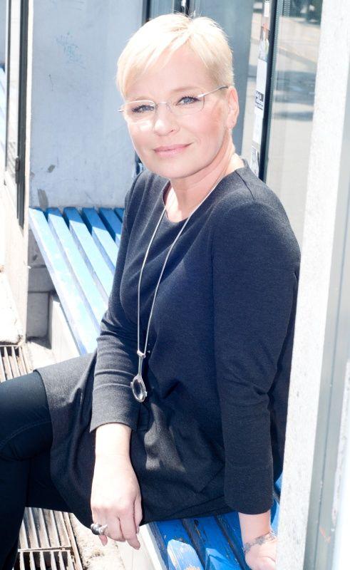 Máté Krisztina rövid haja egyfajta védjegye is
