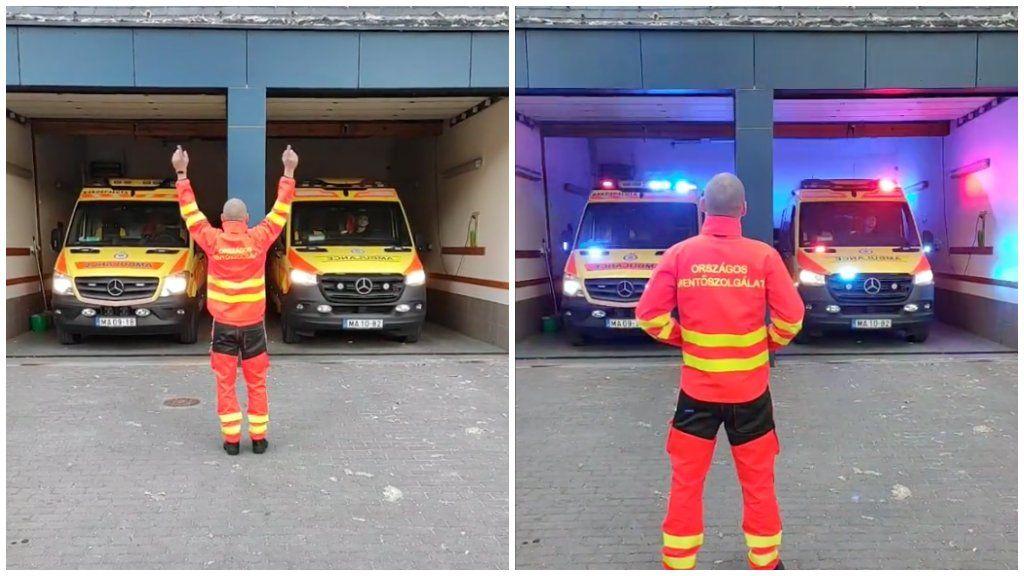 mentős mentőautó tiktok videó