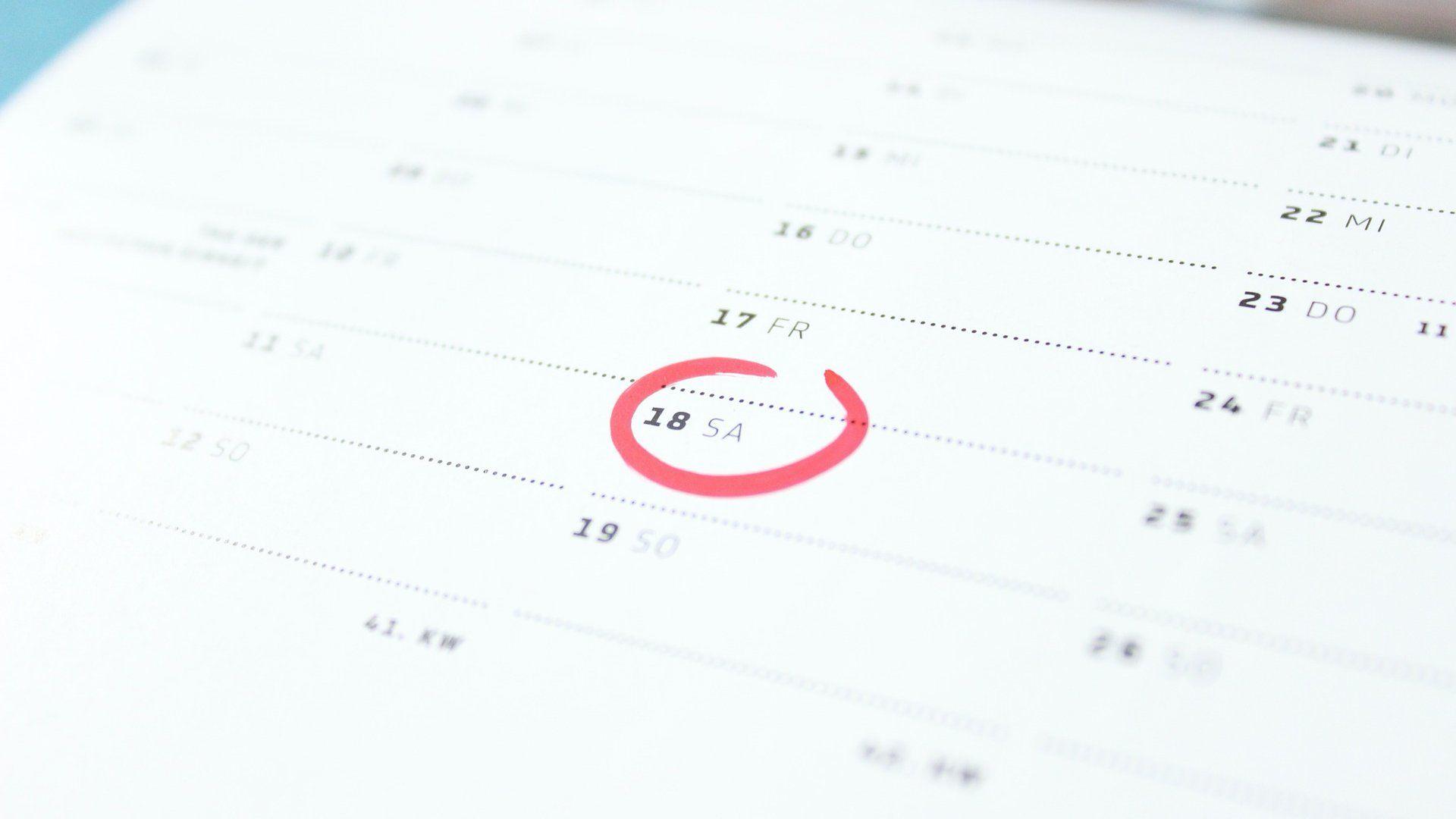 naptár szombat