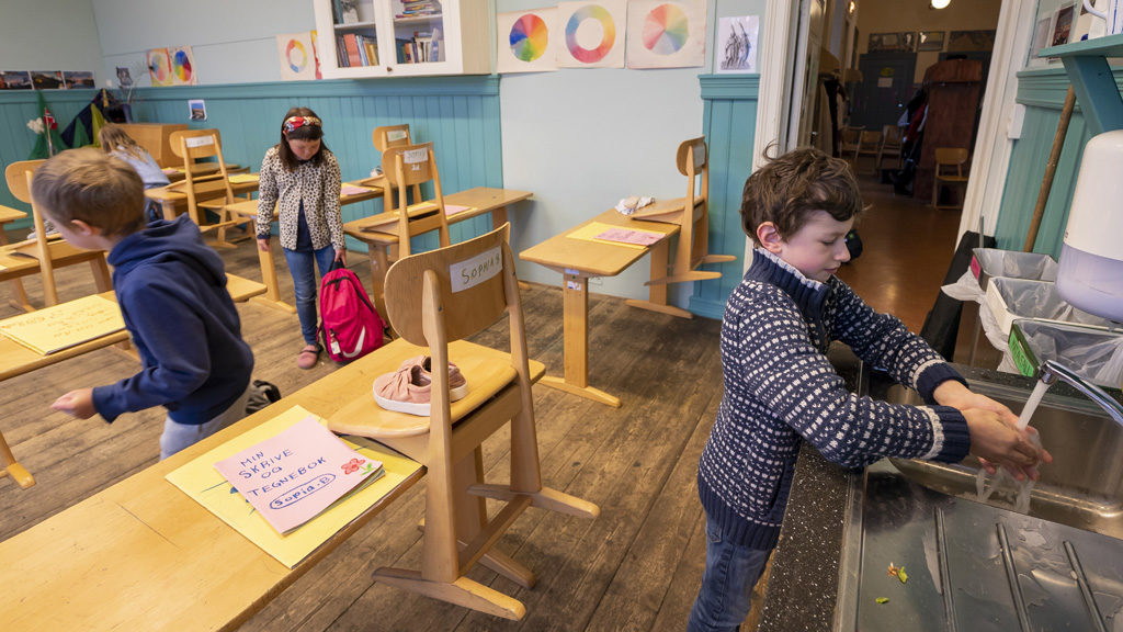 Már április végén kinyitottak az általános iskolák Norvégiában.