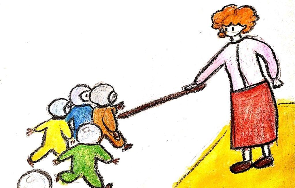 Az óvónő tartson távolságot a gyerektől az oviban