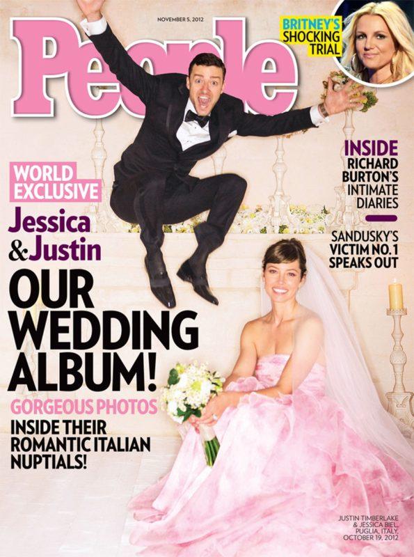 Jessica Biel és Justin Timberlake esküvői fotói a People magazin jelentek meg először
