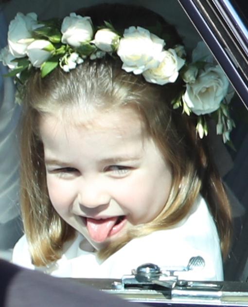Sarolta hercegnő Harry és Meghan esküvőjén 2018-ban.
