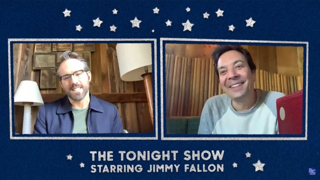 Ryan Reynolds és Jimmy Fallon a műsorvezető karanténshowjában / Fotó: YouTube