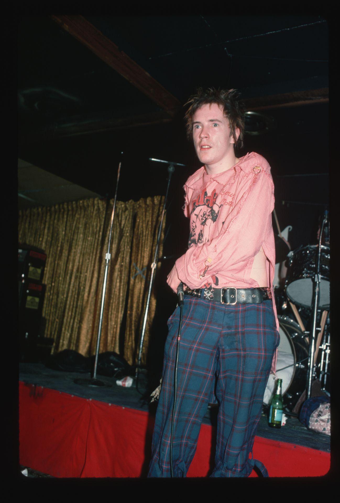 A Sex Pistols énekese, Johnny Rotten 1978-ban.