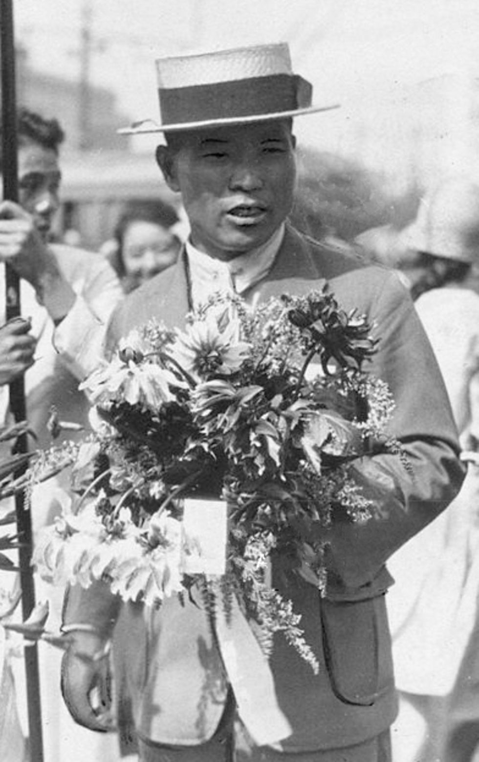 Shizo Kanakuri az 1924-es olimpia után (fotó: Wikipedia)