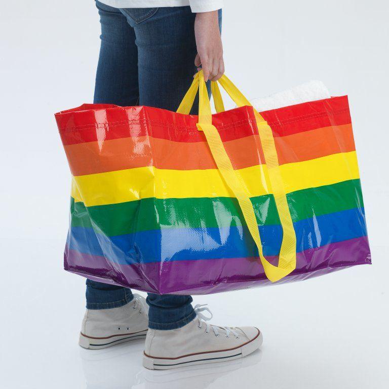 ikea szivárványszínű szatyor homofóbia