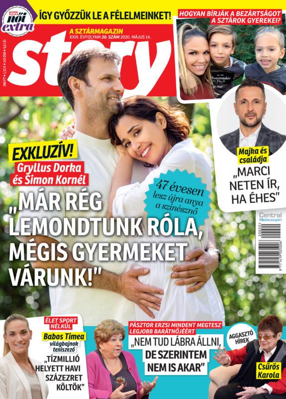 Gryllus Dorka 47 évesen gyereket vár, Simon Kornéllal mesélnek