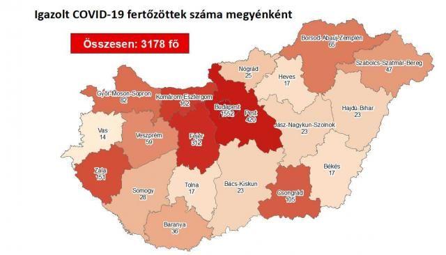 Koronavírus itthon: meghalt 9 újabb beteg, 3178-ra nőtt a fertőzöttek száma