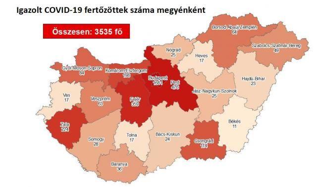 Meghalt 11 beteg, 3509 főre nőtt a fertőzöttek száma