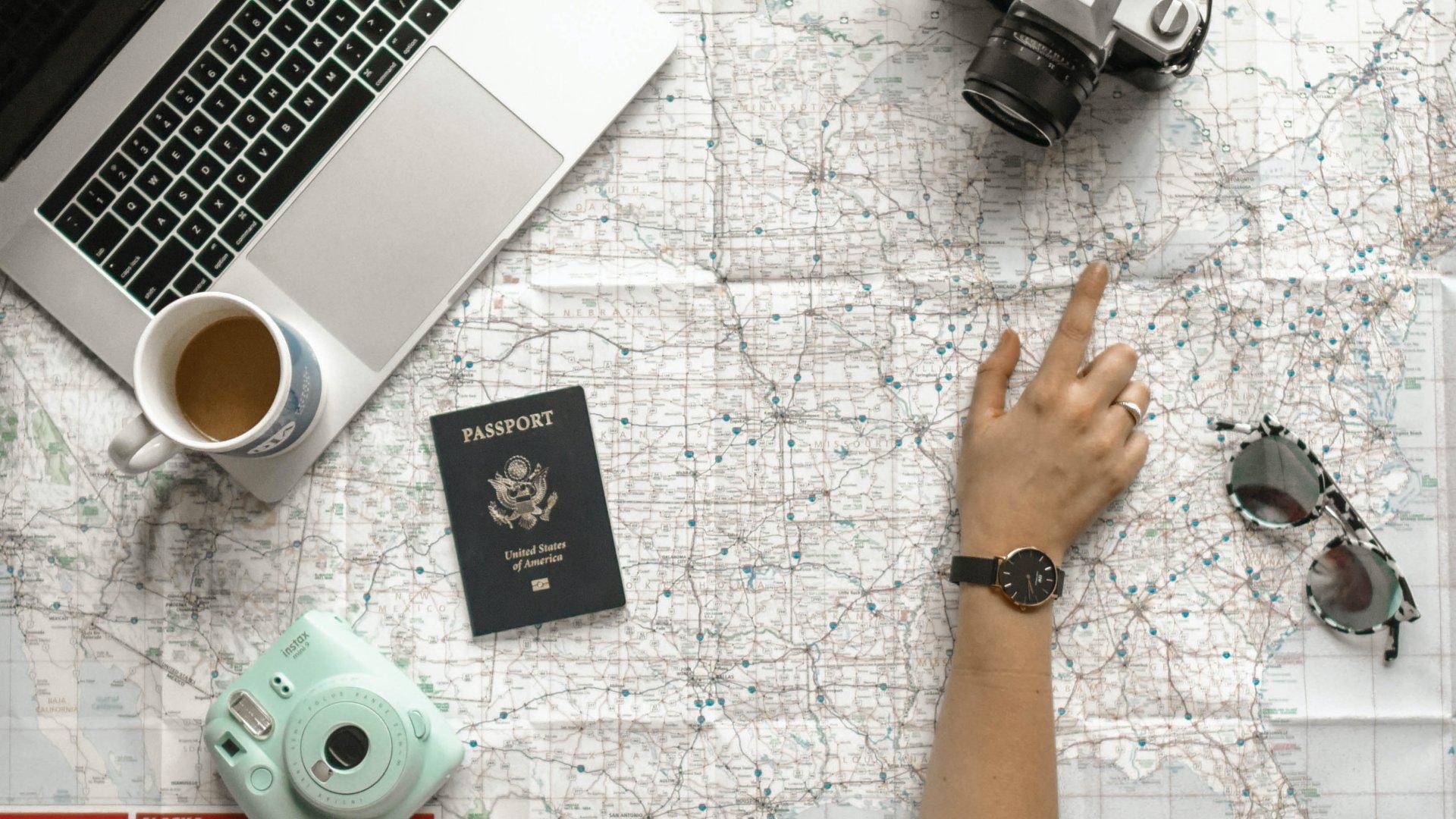 utazás térkép