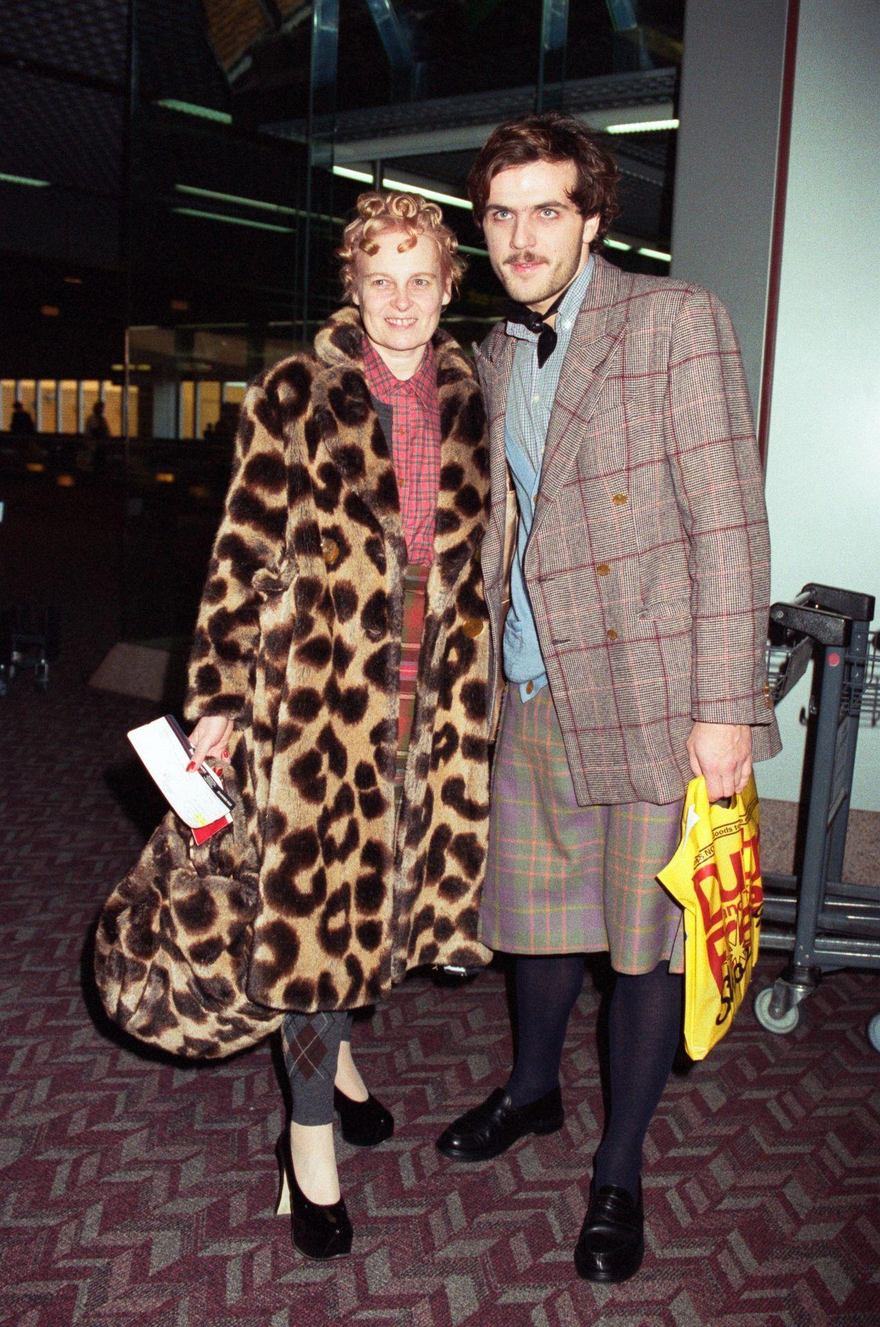 Vivienne Westwood és Andreas Kronthaler 1991-ben.