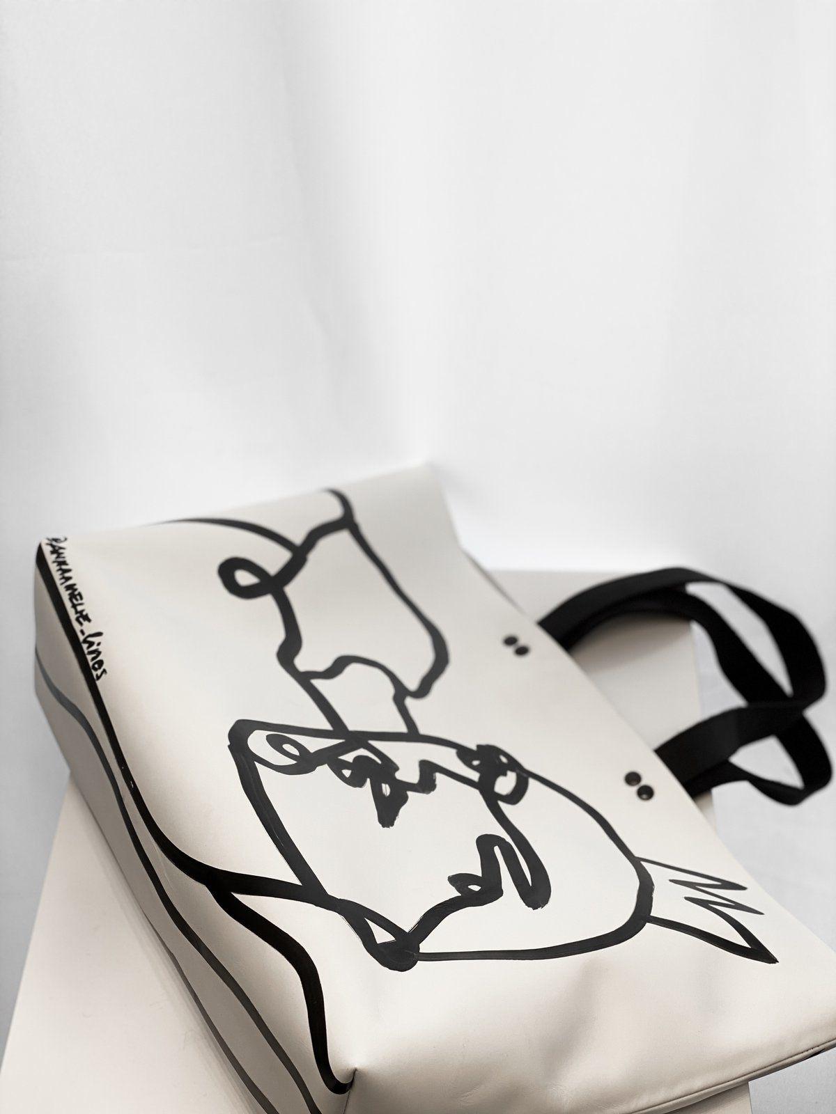 Vonalrajzos tote táska - Anna Amélie