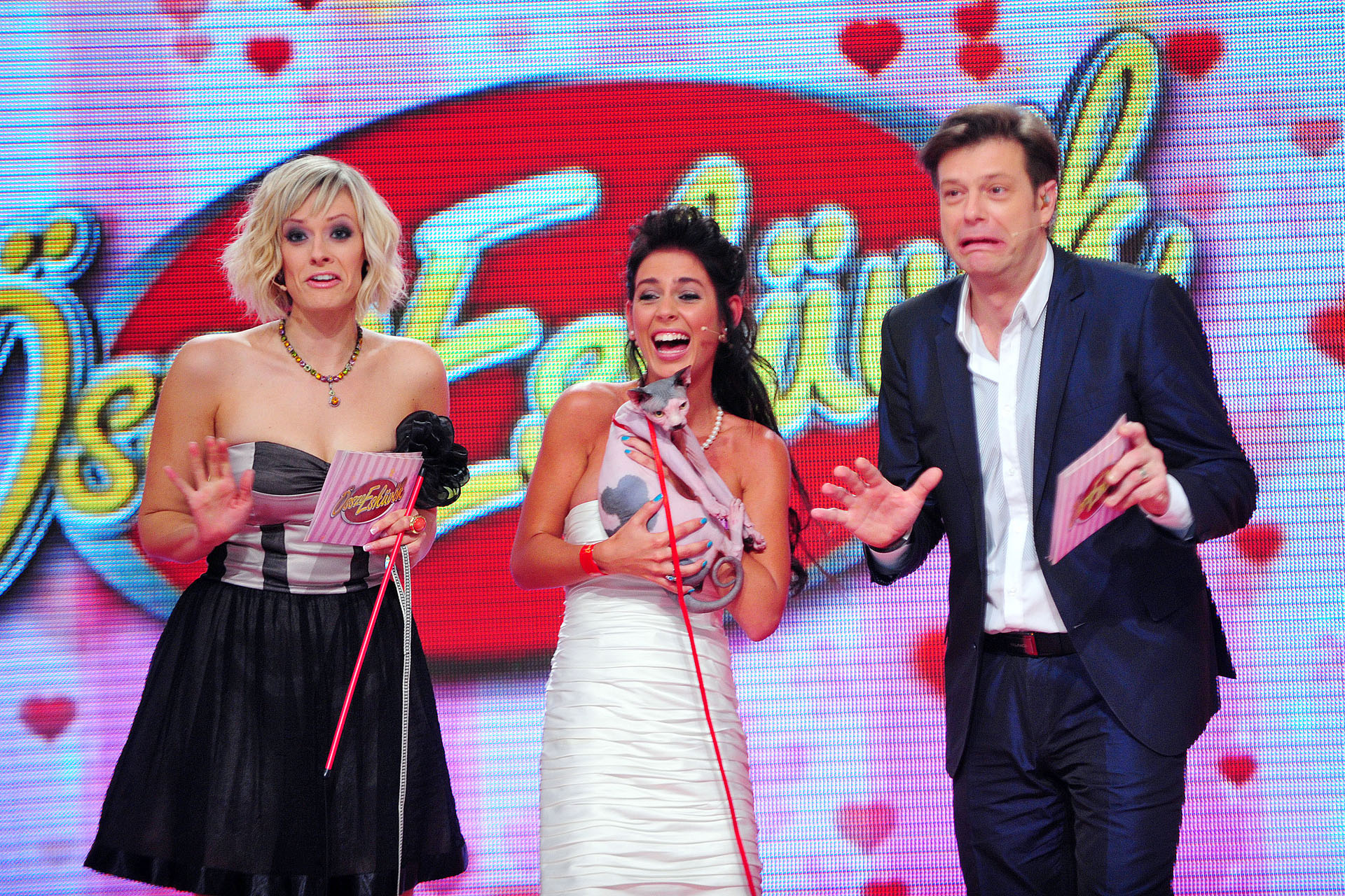 Peller Mariann és Till Attila, az Összeesküvők műsorvezetői