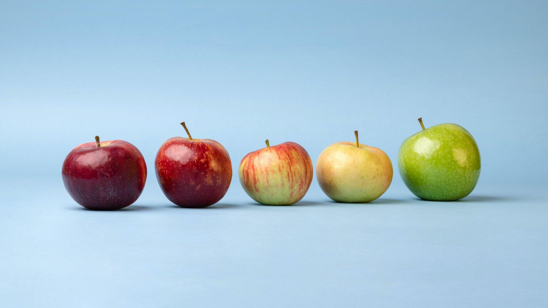 Különböző almafajták