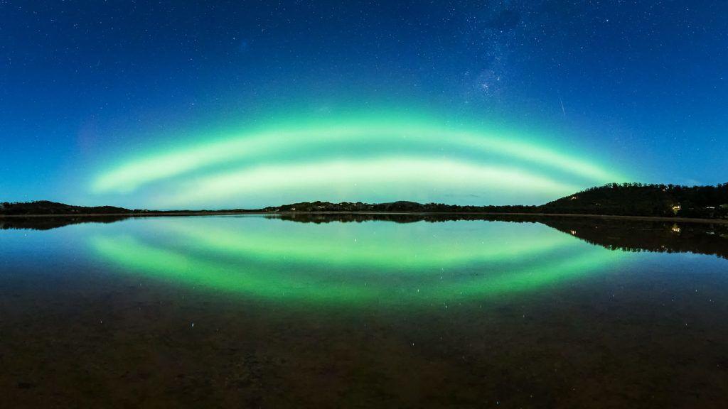 Az űrállomásról fotózták a sarki fényt a déli félteke felett