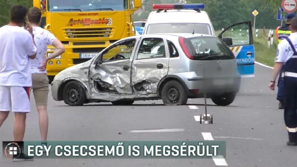 Kéthónapos csecsemő is megsérült a közúti balesetben