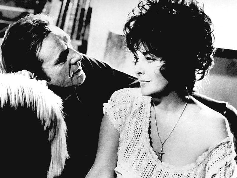 Richard Burton és Elizabeth Taylor az 1973-as Válik a férfi, válik a nő című filmben