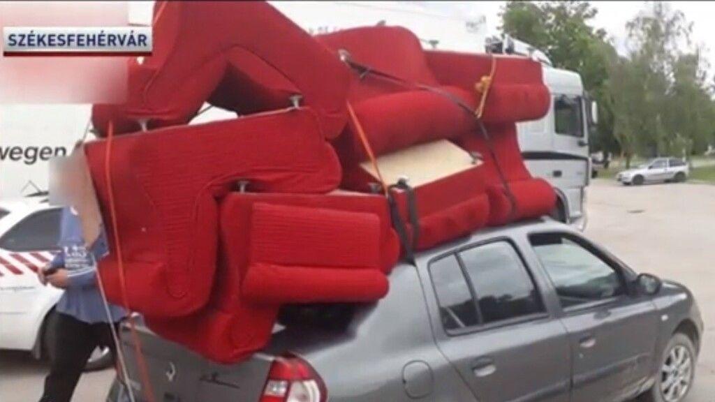 Igazán egyedi, de piszkosul veszélyes bútorszállítást eszközölt egy velencei férfi