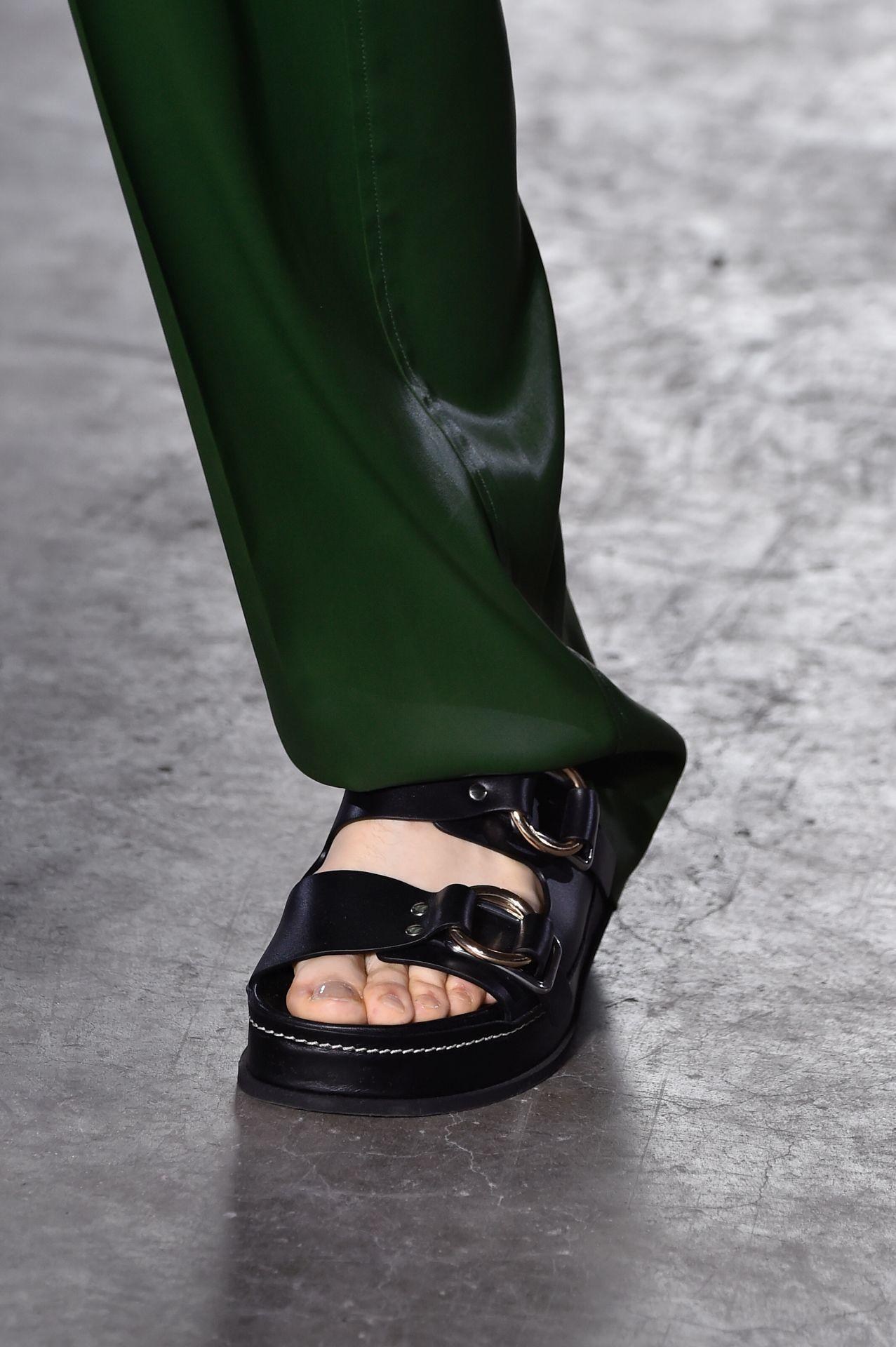 fekete kétcsatos papucs - 3.1 Phillip Lim