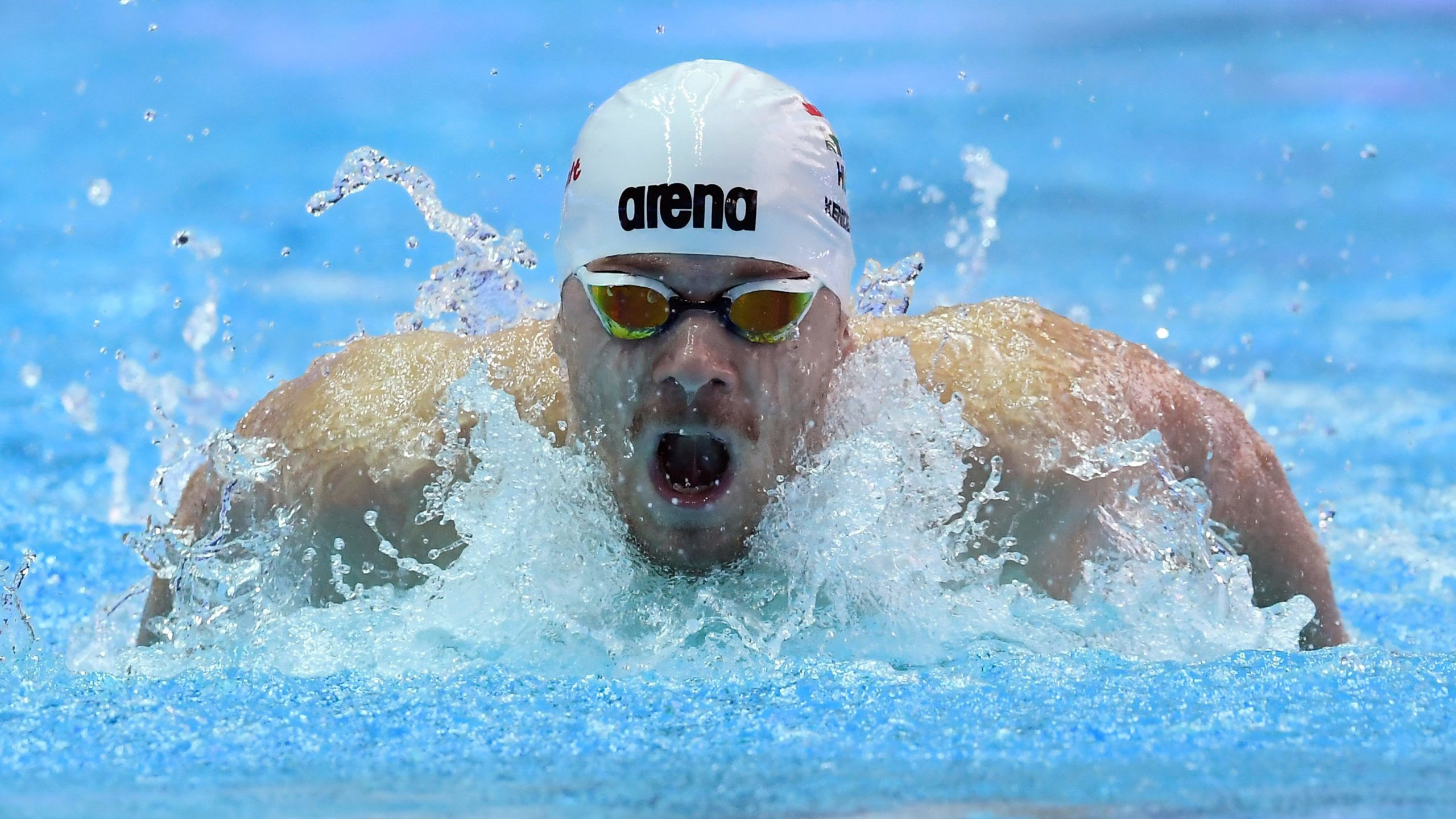 Kvangdzsu, 2019. július 23.Kenderesi Tamás a férfi 200 méteres pillangóúszás elõfutamában a 18. vizes világbajnokságon a dél-koreai Kvangdzsuban 2019. július 23-án.MTI/Kovács Tamás