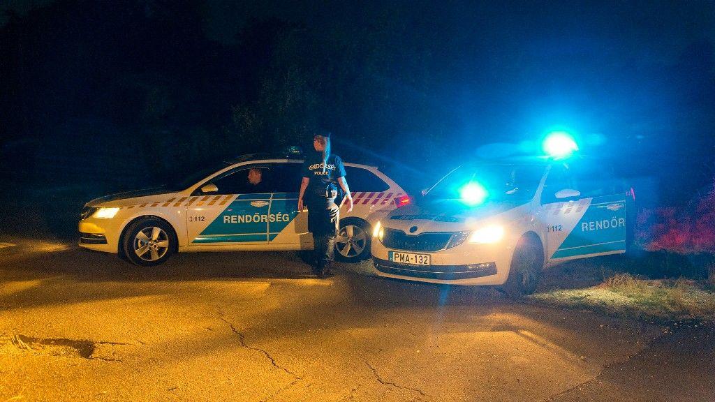 A rendőrség épp a rendre vigyáz. Képünk illusztráció (fotó: MTI/Krizsán Csaba)