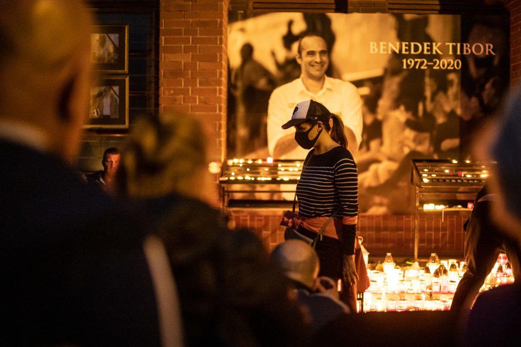 Benedek Tibor megemlékezésére rengetegen gyűltek össze (Fotó: Neményi Márton)