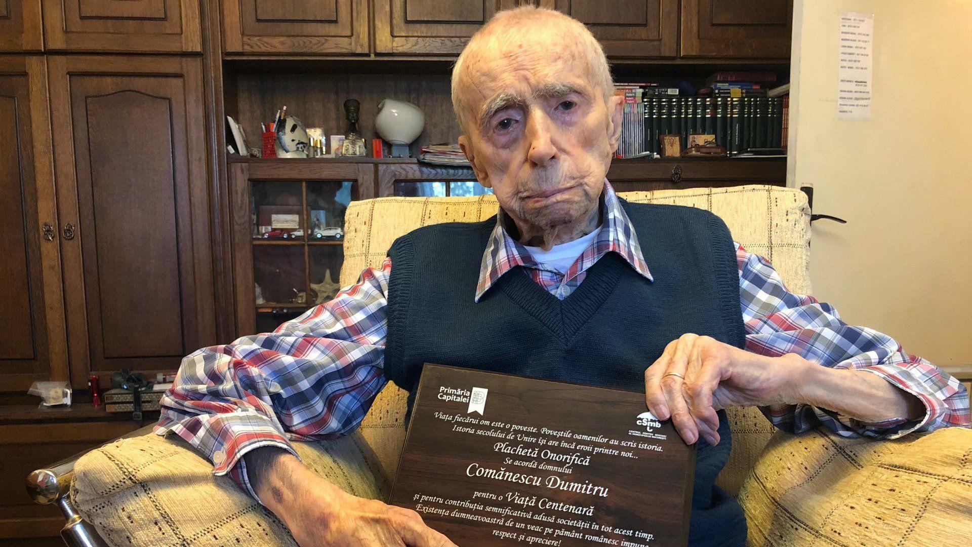 Dumitru Comănescu, a világ legidősebb férfija