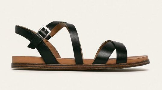 Fekete bőr saru - Caprice - Answear