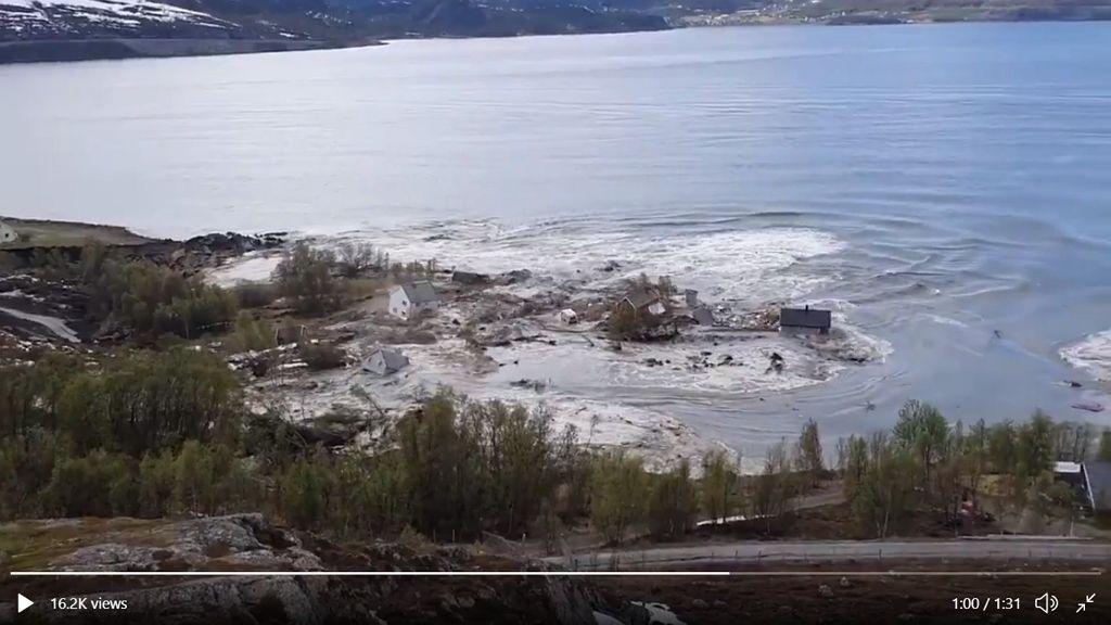 Napokig is eltarthat a földcsuszamlás Norvégiában.