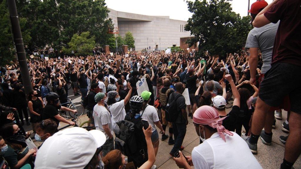 Tüntetés Philadelphiában