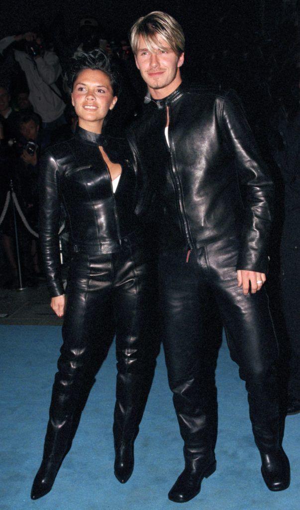 David és Victoria Beckham a 'Versace Club' gálán