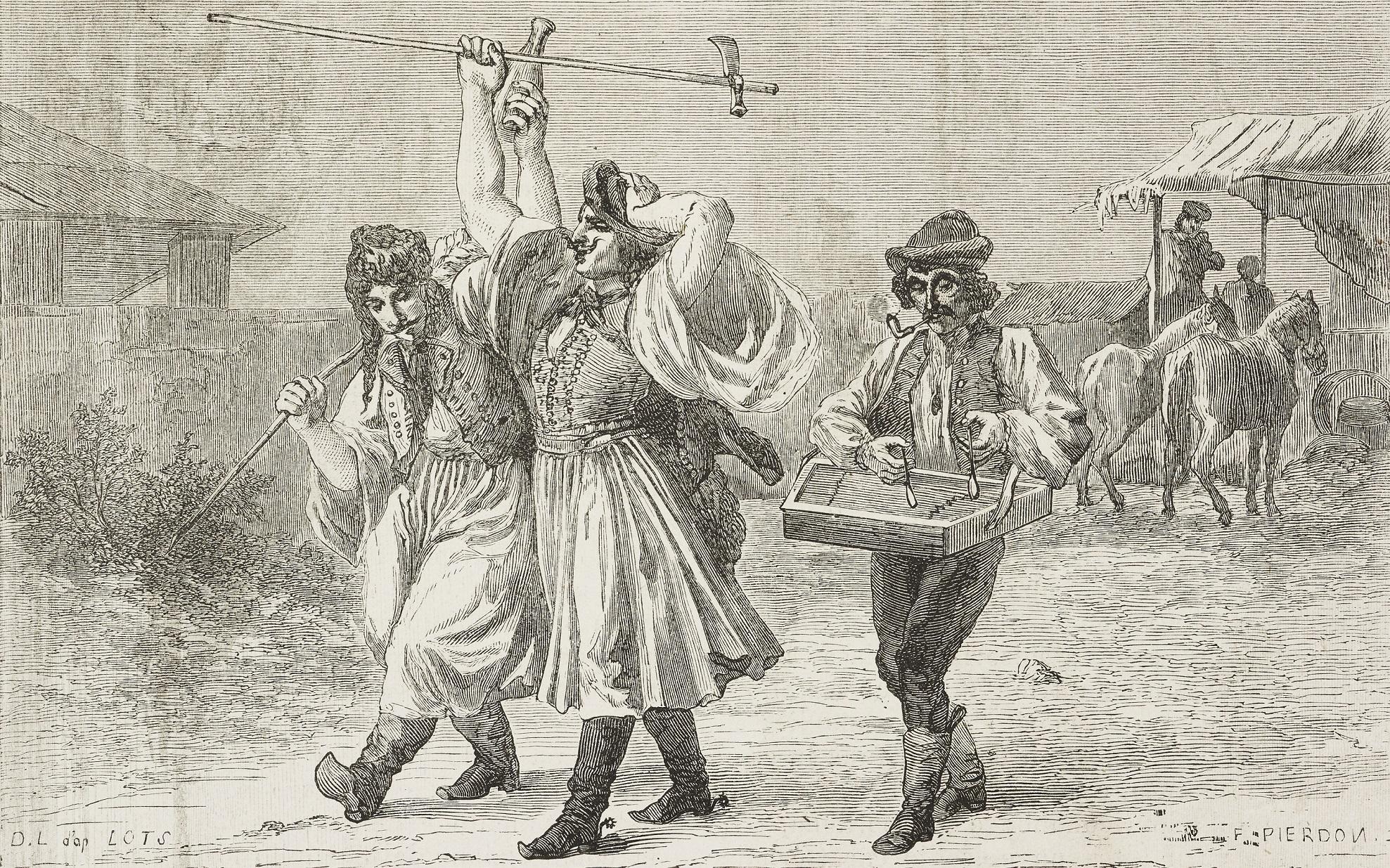 Dieudonne Lancelot: Magyar parasztok nótázás közben (forrás: gettyimages)